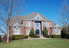 Luxury Home 68. A  two-story home on a large lot Royalty Free Stock Photo