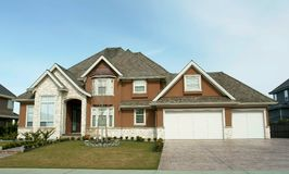 Luxury Home. Large home exterior in Morgan Creek, Surrey BC stock images