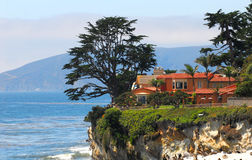 Luxury home along the California coast Stock Images