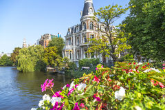 Luxury Home on Amsterdam Canal Stock Photography