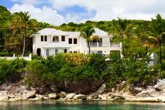 Luxury home on Antigua stock photography
