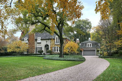 Luxury home in autumn Stock Images