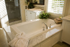 Luxury home bathroom. Royalty Free Stock Images