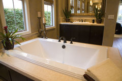 Luxury home bathroom. Royalty Free Stock Photography