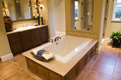Luxury home bathroom. royalty free stock photos