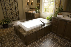 Luxury home bathroom Royalty Free Stock Images