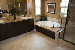 Luxury home bathroom Stock Photography