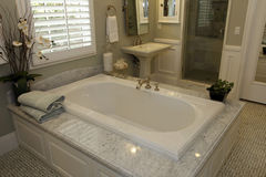 Luxury home bathroom Stock Photos