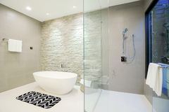 Luxury home bathroom. In new room Royalty Free Stock Photography
