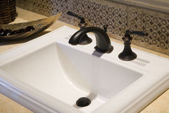 Luxury home bathroom sink. Royalty Free Stock Images