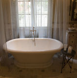 Luxury home bathtub. Royalty Free Stock Photo