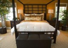 Luxury home bedroom. Stock Photos