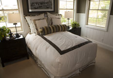 Luxury home bedroom. Stock Photo