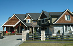 House. Luxury home built in langley, Bc Stock Photo