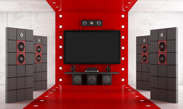 Luxury home cinema Royalty Free Stock Image