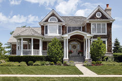 Luxury home with column entry way Royalty Free Stock Photo