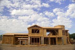 Luxury Home Construction Stock Photos