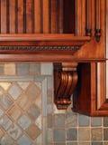 Luxury Home dark wood kitchen detail Stock Photos