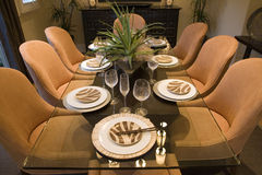 Luxury home dining room. Stock Photo