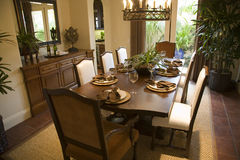 Free Luxury Home Dining Room. Royalty Free Stock Photos - 4924748