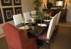 Luxury home dining room. Royalty Free Stock Photo