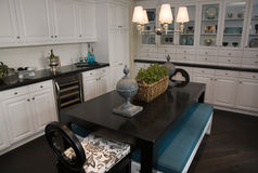 Luxury home dining room. Royalty Free Stock Images