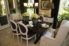 Luxury home dining room. Stock Images