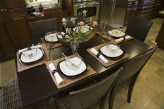 Luxury home dining room. Stock Photo