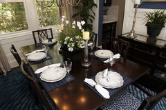 Luxury home dining room Royalty Free Stock Photography