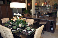 Luxury home dining room Stock Photos