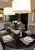 Luxury home dining room Royalty Free Stock Image
