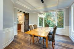 Luxury home dining room interior Stock Photography