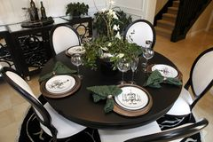 Luxury home dining table Royalty Free Stock Photos