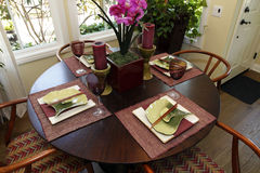 Luxury home dining table stock photos