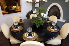 Luxury home dining table. Royalty Free Stock Photography