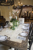 Luxury home dining table. Royalty Free Stock Photos