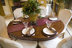 Luxury home dining table. Stock Photos