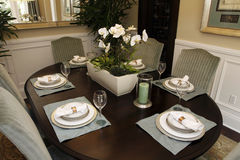 Luxury home dining table Stock Photo