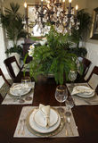 Luxury home dining table Royalty Free Stock Photo