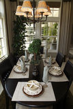 Luxury home dining table. Stock Photo