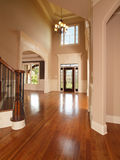 Luxury home entrance way. Luxury model home grand arched entrance way Royalty Free Stock Images