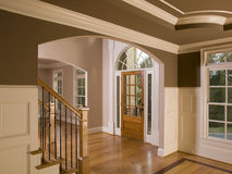 Luxury Home Entranceway with Staircase Stock Photos