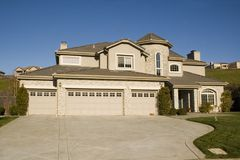 Luxury home exterior. Luxury home in new development in Northern California Stock Photo