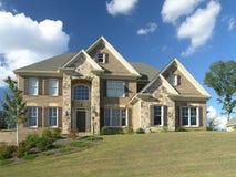 Luxury Home Exterior 57. Luxury Home Exterior against blue sky Stock Photos