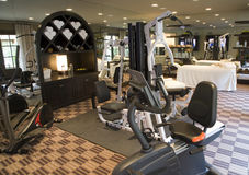 Luxury home gym. Gym with modern exercise equipment Royalty Free Stock Photo
