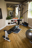 Luxury home gym. With modern exercise equipment Royalty Free Stock Images