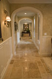 Luxury home hallway. Mansion hallway and luxury decor Royalty Free Stock Image