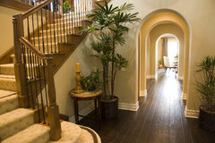 Luxury home hallway. stock images