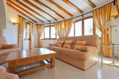 Luxury home interior. With modern decoration Royalty Free Stock Photography