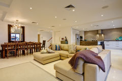 Luxury Home Interior Stock Photo